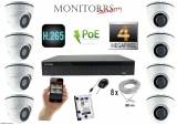 Monitorrs Security Dome IP kamerový set 4 M.Pix
