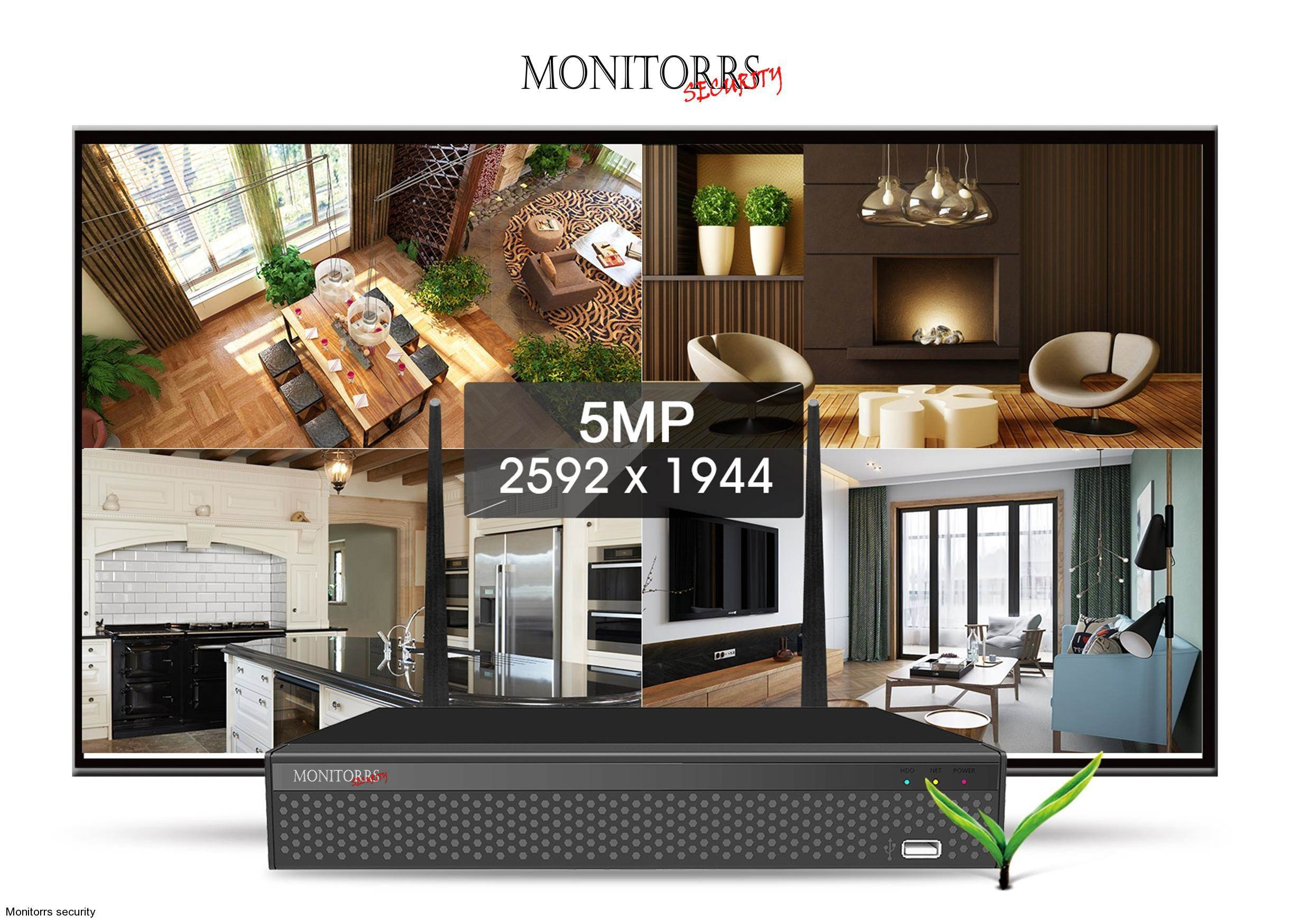 Monitorrs Security  AHD 8 kamerový set 5 MPix GTube (6167K8)