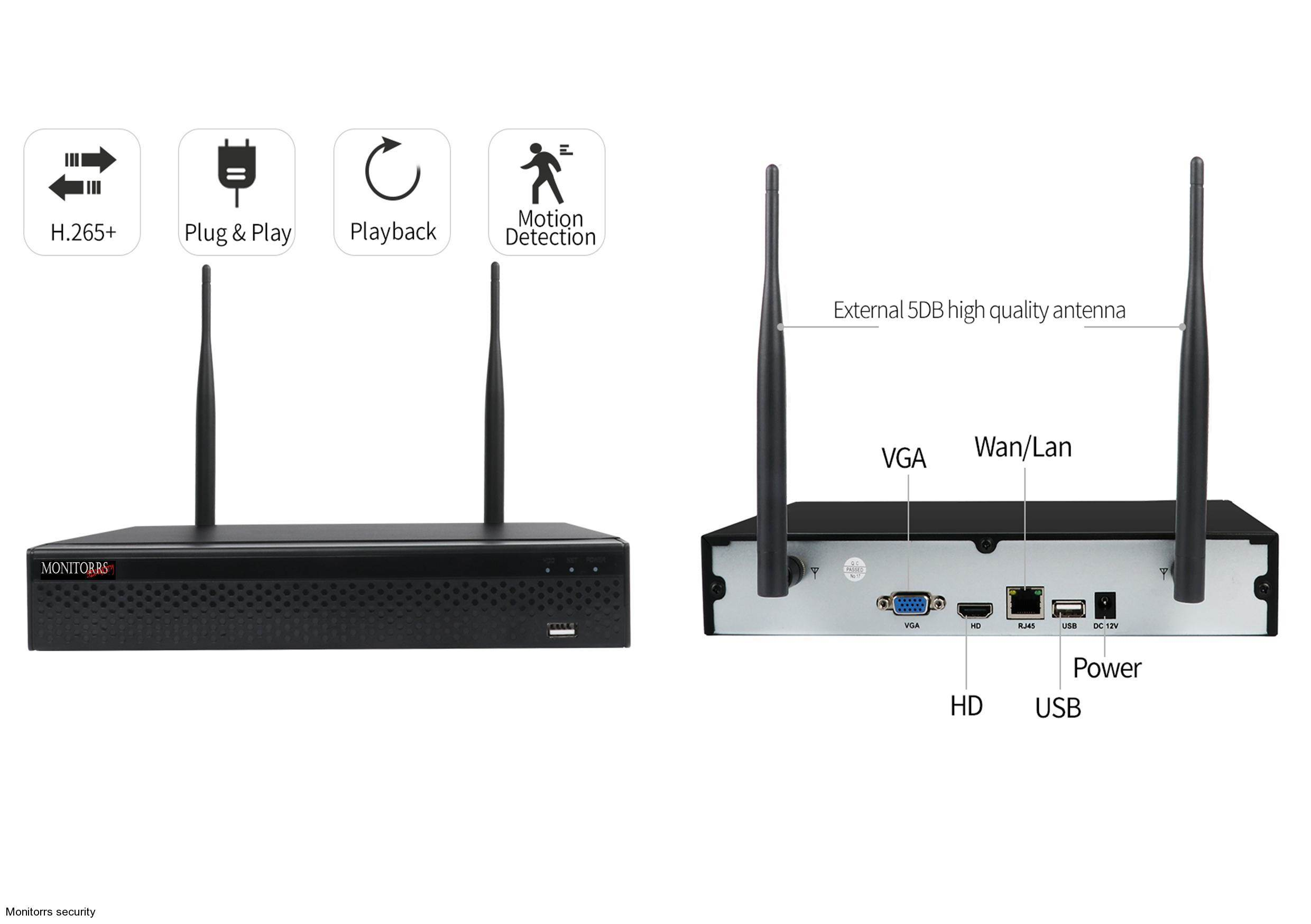 Monitorrs Security Wifi IP kamerový set FullHD 5 x kamera (6181K5)