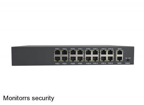 HT162 16-PORT 10/100 + 2-PORT 10/100/1000M SWITCH WITH 16-PORT POE  IEEE 802.3af (6063)