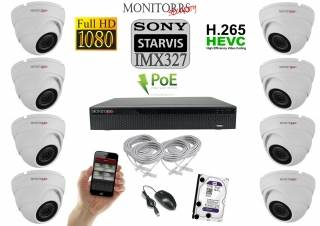 Monitorrs Security STARVIS IP 8 kamerový set 2 Mpix WDome (6280K8)