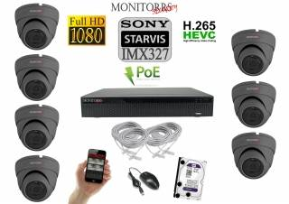 Monitorrs Security STARVIS IP kamerový set 2 M.Pix. DOME (6171K7)