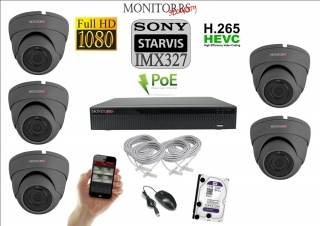 Monitorrs Security STARVIS IP kamerový set 2 M.Pix. DOME (6171K5)