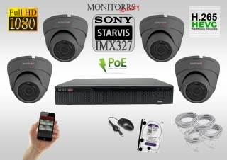Monitorrs Security STARVIS IP 4 kamerový set 2 Mpix GDome (6171K4)