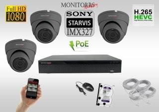 Monitorrs Security STARVIS IP kamerový set 2 M.Pix. DOME (6171K3)