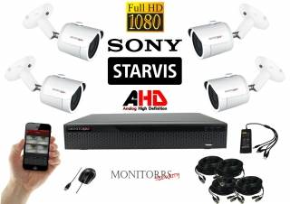 Monitorrs Security Starvis AHD 4 kamerový set 2,1 M.Pix. WTube (6287K4)