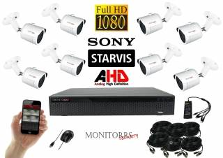 Monitorrs Security Starvis AHD 8 kamerový set 2,1 M.Pix. WTube (6287K8)