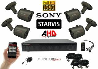 Monitorrs Security Starvis AHD 4 kamerový set  2,1 M.Pix. GTube (6165K4)