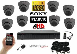 Monitorrs Security Starvis AHD 8 kamerový set 2,1 M.Pix. GDome (6256K8)