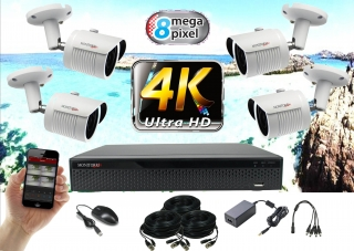 Monitorrs Security 4K AHD 4 kamerový set 8 Mpix WTube (6281K4)