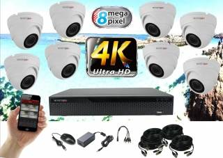 Monitorrs Security 4K  AHD 8 kamerový set 8 Mpix WDome (6163K8)