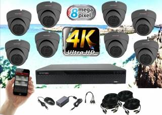Monitorrs Security 4K AHD 8 kamerový set 8 Mpix GDome (6164K8)