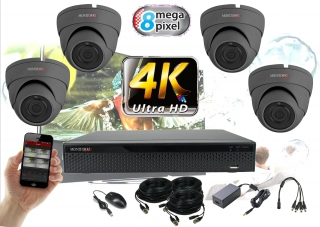 Monitorrs Security 4K AHD 4 kamerový set 8 Mpix GDome (6164K4)