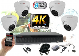 Monitorrs Security 4K AHD 4 kamerový set 8 Mpix WDome (6163K4)