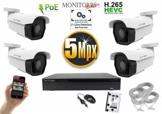 Monitorrs Security park IP kamerový set 5 MPix. 1TB HDD  (6185K4)