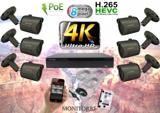 Monitorrs Security 4K IP Kamerový systém 6 kam. GT (6193K6)