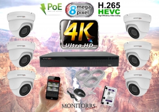 Monitorrs Security 4K IP Kamerový systém 6 kam. WD (6194K6)