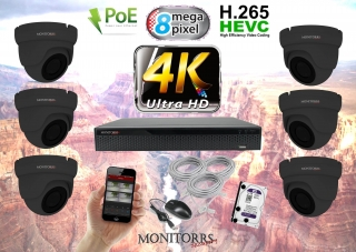 Monitorrs Security 4K IP Kamerový systém 6 kam. GD (6195K6)