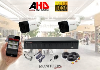 Monitorrs Security AHD 2 kamerový set  2 M.Pix Tube (6030K2)