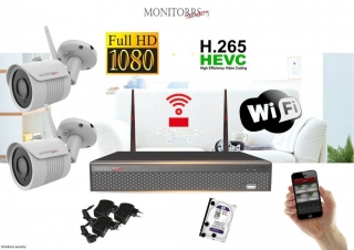 Monitorrs Security Wifi IP kamerový set Full HD 1080p 2 x kamera (6513K2)