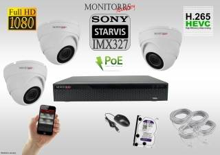 Monitorrs Security STARVIS IP kamerový set 2 M.Pix. DOME (6280K3)