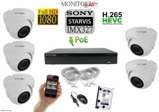 Monitorrs Security STARVIS IP kamerový set 2 M.Pix. DOME (6280K5)