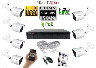 Monitorrs Security STARVIS IP kamerový set 2 M.Pix. (6519K7)