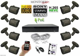 Monitorrs Security STARVIS IP 8 kamerový set 2 Mpix GTube (6172K8)