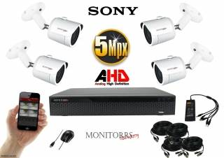 Monitorrs Security  AHD 4 kamerový set 5 MPix WTube (6510K4)