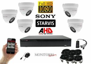 Monitorrs Security Starvis AHD 5 kamerový set 2,1 M.Pix. WDome (6166K5)