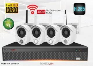 Monitorrs Security Wifi IP kamerový set FullHD s PIR detektorom pohybu 4 x kamera (6149)
