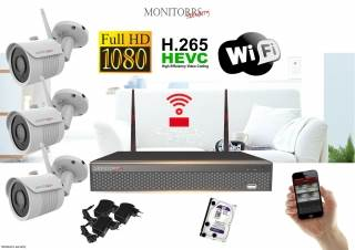 Monitorrs Security Wifi IP kamerový set FullHD 1080p 3 x kamera (6142K3)