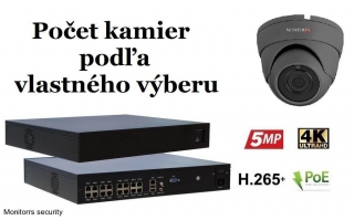 Monitorrs Security IP kamerový set  2 Mpix GDome (6169K8+)