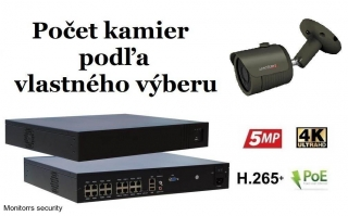 Monitorrs Security IP kamerový set 2 Mpix GTube (6170K8+)