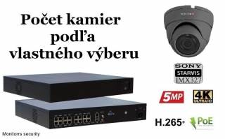 Monitorrs Security STARVIS IP kamerový set 2 Mpix GDome (6171K8+)