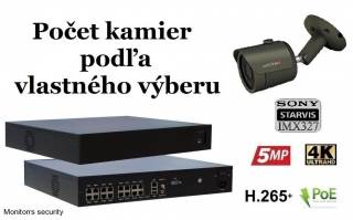 Monitorrs Security STARVIS IP kamerový set 2 Mpix GTube (6172K8+)