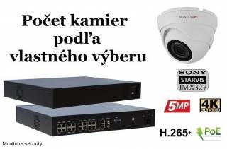 Monitorrs Security STARVIS IP kamerový set 2 Mpix WDome (6280K8+)