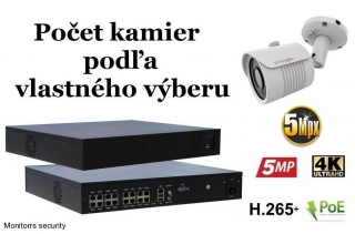 Monitorrs Security IP kamerový set 5 Mpix WTube (6290K8+)
