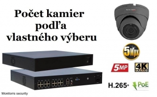 Monitorrs Security IP kamerový set 5 Mpix GDome (6173K8+)