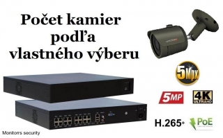 Monitorrs Security IP kamerový set 5 Mpix GTube (6174K8+)