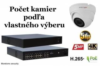 Monitorrs Security IP kamerový set 5 Mpix WDome (6292K8+)