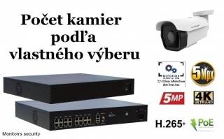 Monitorrs Security park IP kamerový set 5 Mpix WTube (6185K8+)