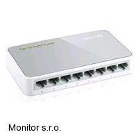 TP-LINK TL-SF1008D 8-port 10/100M mini Desktop Switch, 8x 10/100M RJ45 ports,