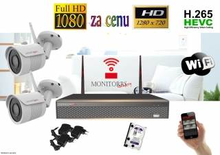 Monitorrs Security Wifi IP kamerový set FullHD 1080p 2 x kamera (6271)